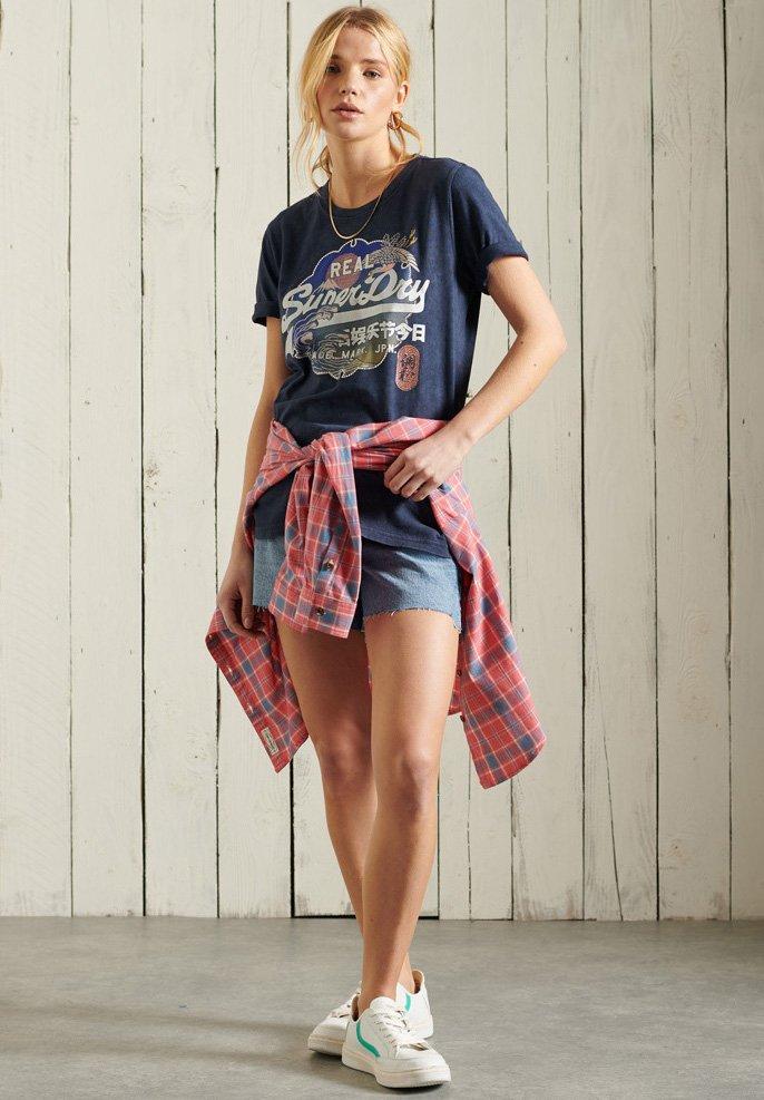 Superdry - T-shirt imprimé - lauren navy