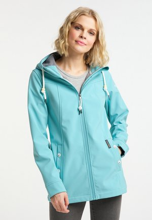 Soft shell jacket - rauch aqua