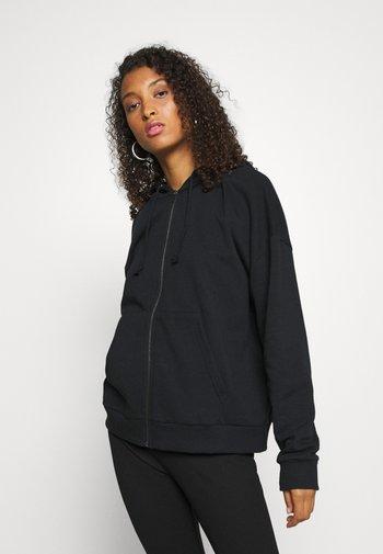 Oversized Zip Through Sweat Jacket