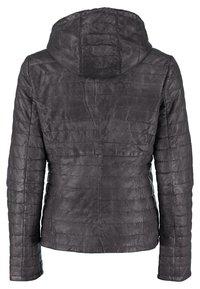 DNR Jackets - MIT KAPUZE - Leather jacket - black - 1