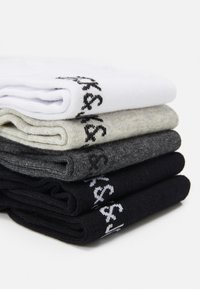 Jack & Jones - JACDONGO SOCKS 5 PACK - Ponožky - dark grey melange/black - 1