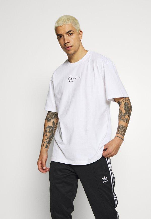 Karl Kani KK SIGNATURE TEE - T-shirt basic - white/biały Odzież Męska RCOH