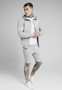 SIKSILK - DUAL STRIPE AGILITY ZIP THROUGH HOODIE - Mikina na zip - grey/white - 1