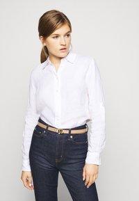 Lauren Ralph Lauren - DRESS CASUAL SKINNY - Belt - nude/black - 0