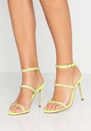 SOPHINA - Sandály na vysokém podpatku - neon green