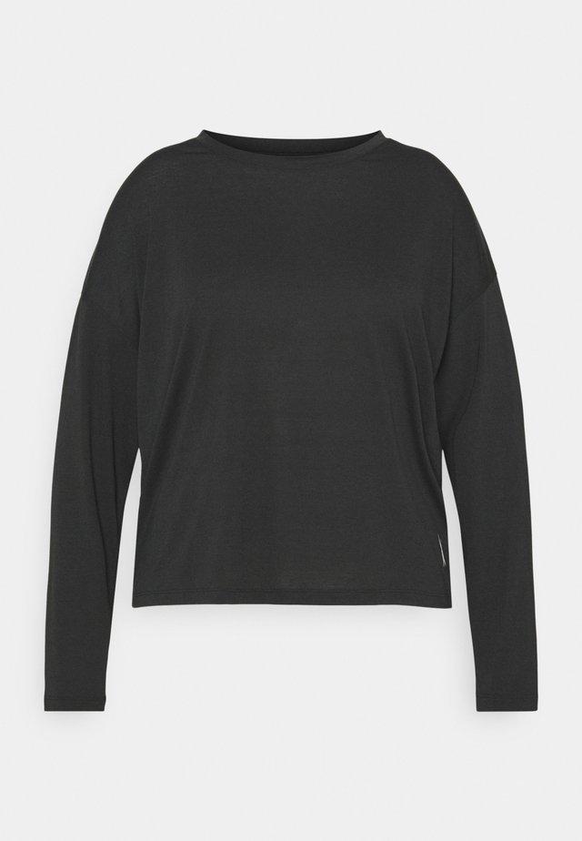 LONG SLEEVE - T-shirt sportiva - night black
