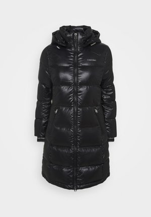 LOFTY LONG COAT - Płaszcz puchowy - black