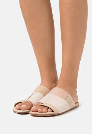 T-bar sandals - multicolor/nude
