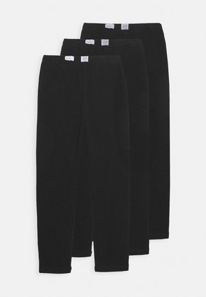 GIRL 3 PACK  - Leggings - Trousers - true black