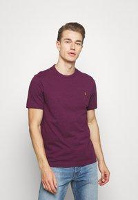 Farah - DENNIS SOLID TEE - Print T-shirt - purple marl - 0