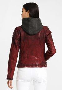 Gipsy - CASCHA LAMOV - Leather jacket - ox red - 2