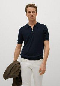 Mango - Polo shirt - marineblauw - 0
