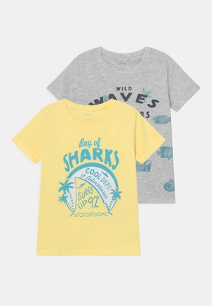 NMMVUX 2 PACK - Print T-shirt - light grey melange