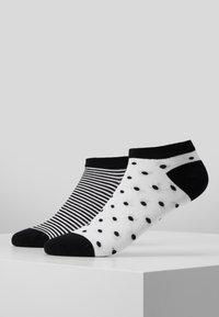 camano - ONLINE WOMEN FASHION FEELING SNEAKER 4 PACK - Socks - black - 0