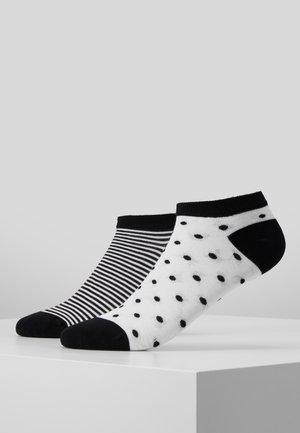 ONLINE WOMEN FASHION FEELING SNEAKER 4 PACK - Socks - black