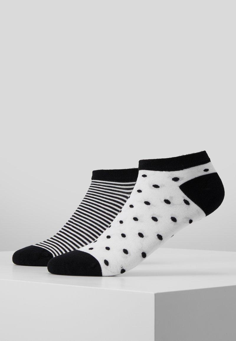 camano - ONLINE WOMEN FASHION FEELING SNEAKER 4 PACK - Socks - black