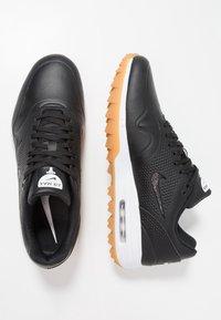 Nike Golf - AIR MAX 1 G - Golfskor - black/light brown - 1