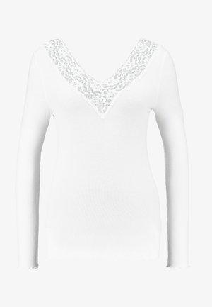 PCSIRI - Bluzka z długim rękawem - bright white