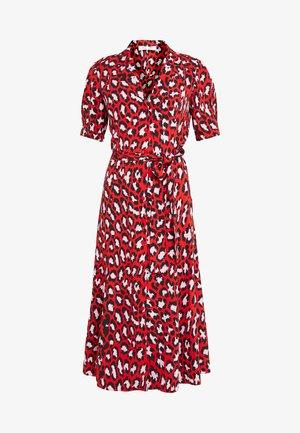EXCLUSIVE DRESS - Abito a camicia - red leopard
