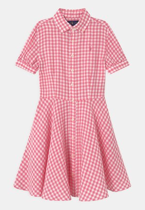 Košilové šaty - pink/white