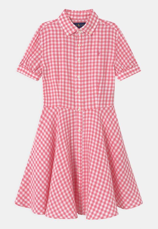 Shirt dress - pink/white