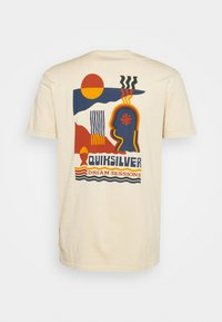 Quiksilver - EARTH RUNNING - T-shirt con stampa - antique white - 1