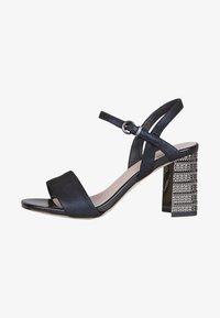 TJ Collection - High heeled sandals - dark blue - 1