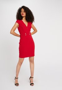 Morgan - WITH DECORATIVE BUTTONS - Shift dress - red - 1