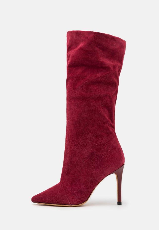 STEVIE - Laarzen met hoge hak - burgundy