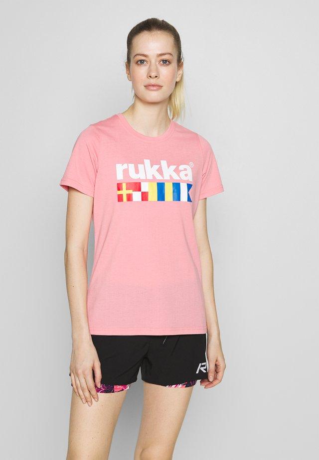 RUKKA VATKIVI - T-shirt con stampa - light pink
