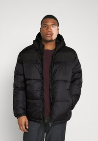 Jack & Jones - JJDREW PUFFER HOOD - Winter jacket - black - 0