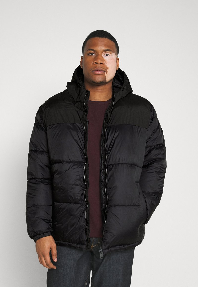 Jack & Jones - JJDREW PUFFER HOOD - Winter jacket - black