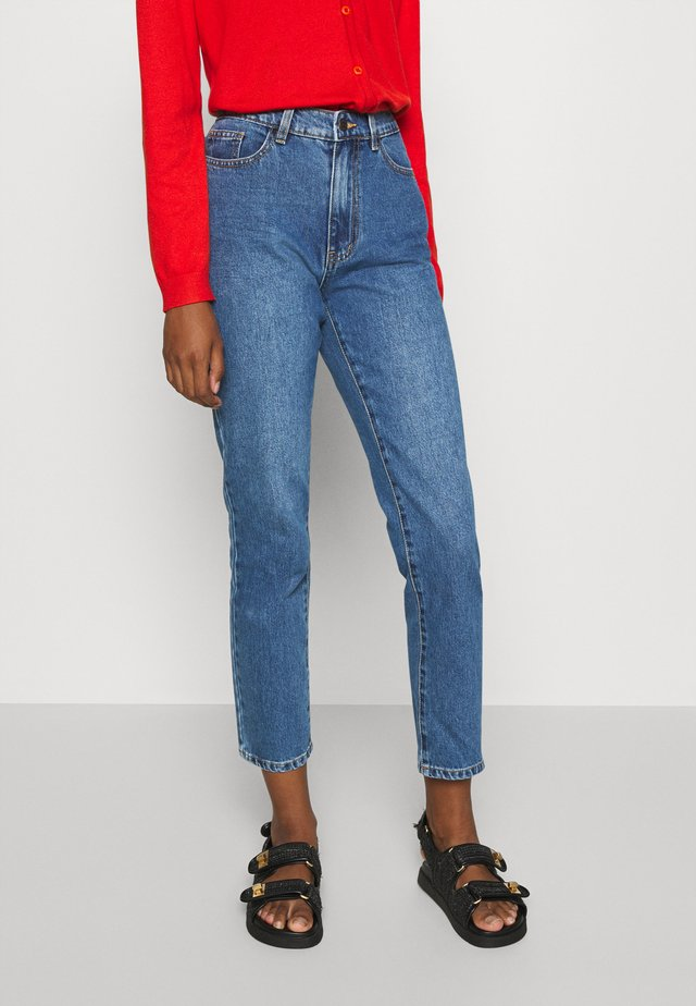 OBJNORA NON STRETCH - Relaxed fit jeans - medium blue denim