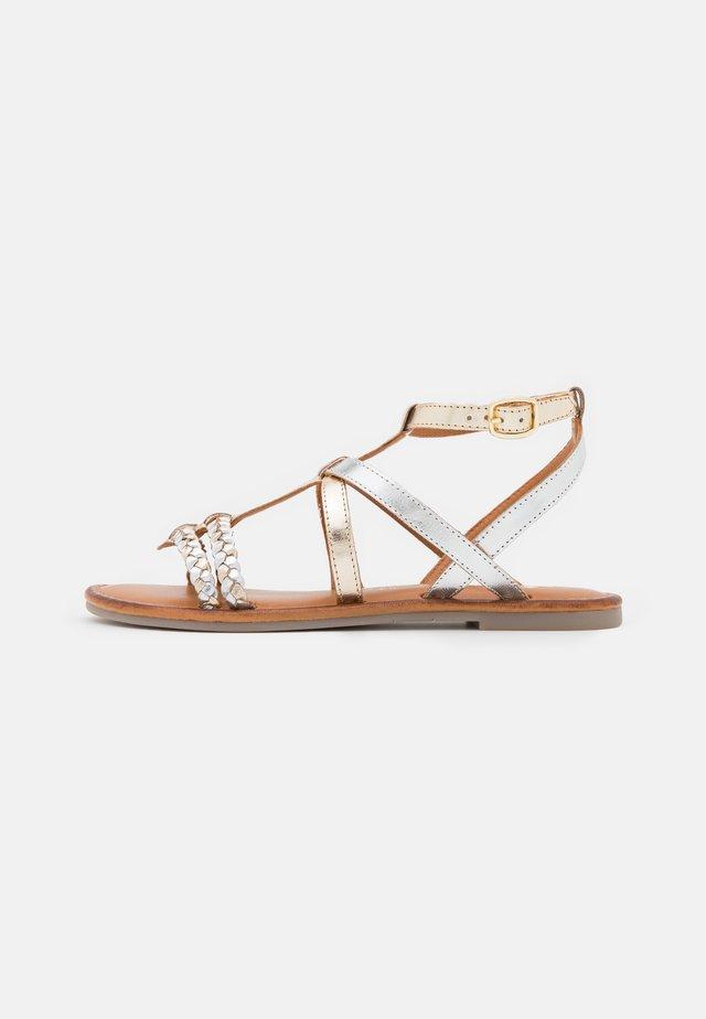 Sandales - light gold/silver