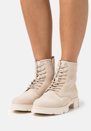Bottines à lacets - beige
