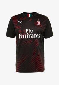 Puma - AC MAILAND 1899  - Club wear - black/tango red - 4