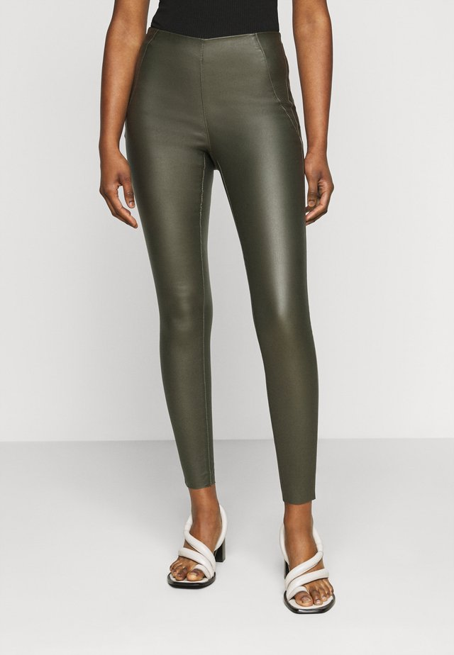 OBJBELLE COATED - Pantalon classique - forest night