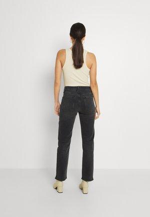 VINTAGE FOLD OVER WAIST - Jeans a sigaretta - black