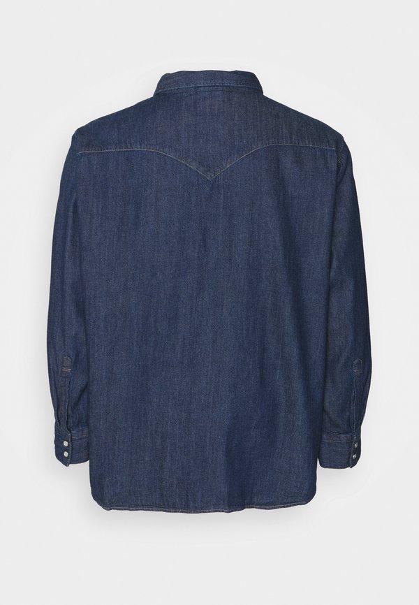 Levi's® Plus BIG BARSTOW WESTERN - Koszula - red cast rinse marbled t2 h2 19/ciemnoniebieski Odzież Męska GFRH