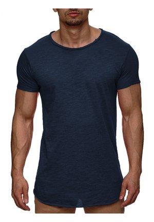WILBUR - Print T-shirt - dark blue