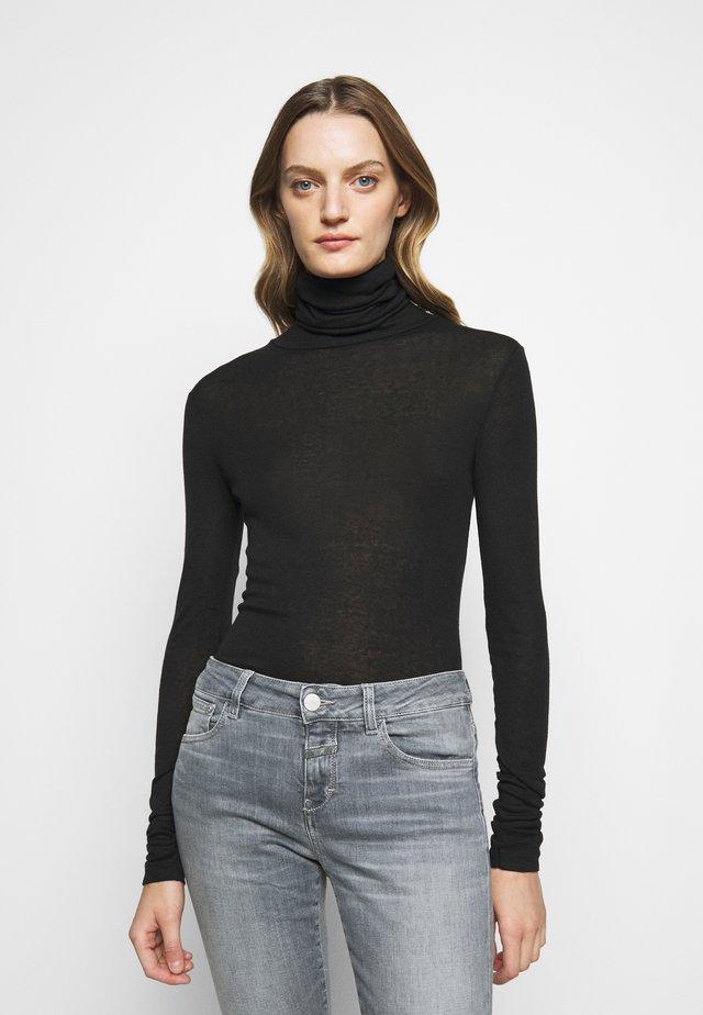 WOMEN - Top sdlouhým rukávem - black