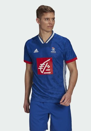 FFHB REP M HB PERFORMANCE AEROREADY PRIMEGREEN HANDBALL FITTED JERSEY - National team wear - blue