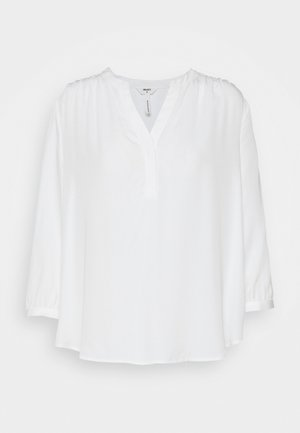 OBJBAYA V NECK BLOUSE NOOS - Blouse - cloud dancer