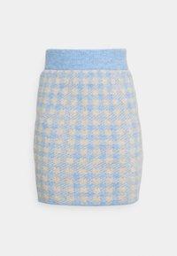 Vila - VICHEKINA SHORT SKIRT - Mini skirt - natural melange/blue - 3