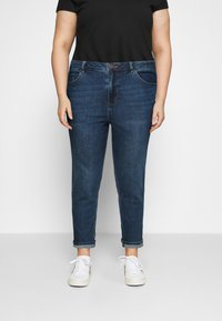 Simply Be - HIGH WAIST MOM JEANS - Relaxed fit jeans - new vintage blue - 0
