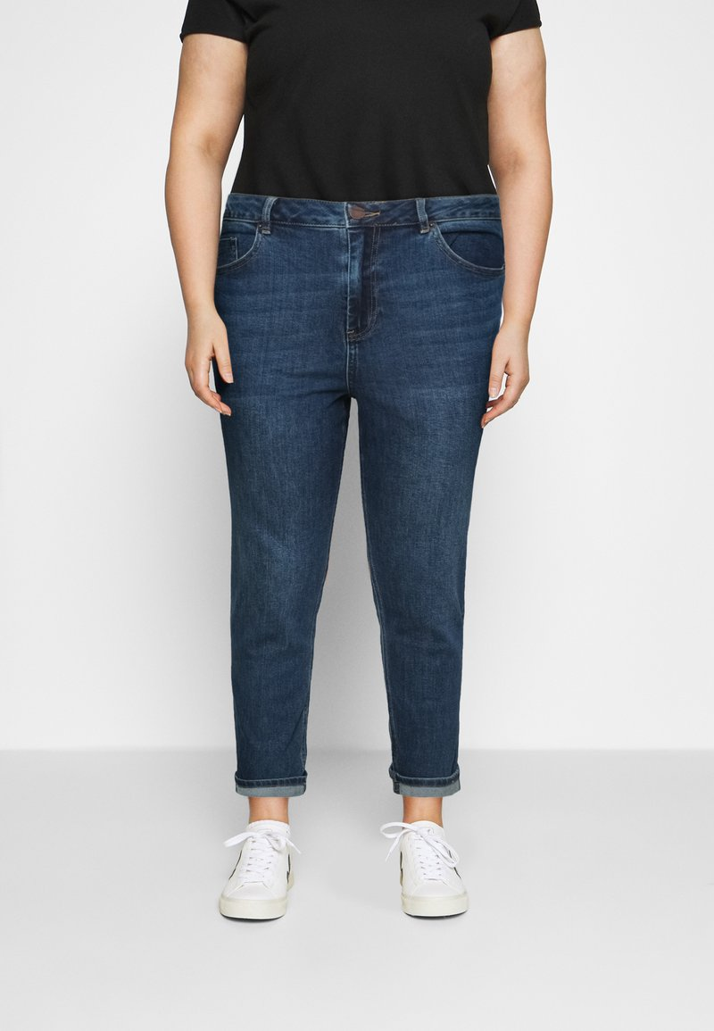 Simply Be - HIGH WAIST MOM JEANS - Relaxed fit jeans - new vintage blue