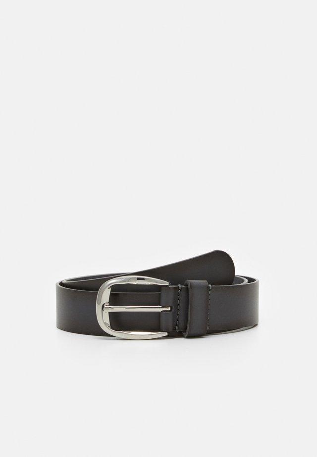 LEATHER - Belt - dark grey