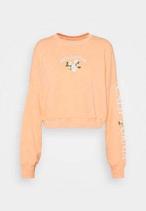 PRINT FASHION LOGO CREW - Sweatshirt - coral