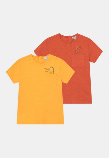 POCKET 2 PACK - Print T-shirt - yellow