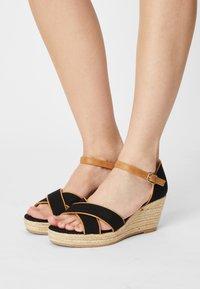 s.Oliver - Platform sandals - black - 0